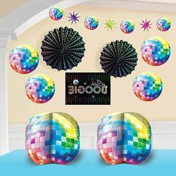 Disco 1970's Party Supplies 10 pcs. DECORATING KIT Groovy Ni