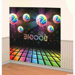 Disco Fever Let's BOOGIE Scene Setters 70s Themed Party Wall