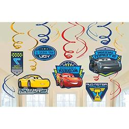 Disney Cars 3 Lighning McQueen Party Foil Hanging Swirl Deco