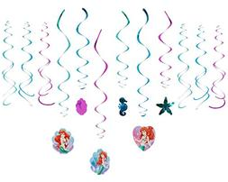 Disney Ariel Decorative Swirls Foil Hanging Birthday Party D