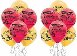 Amscan Disney Cars 3 Latex Balloons 6 count Birthday Party S
