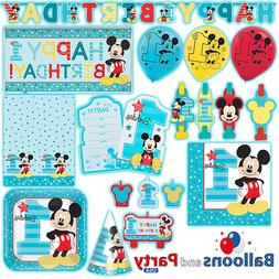 Disney Mickey Mouse Fun One 1st Birthday Party Tableware Dec