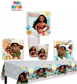 Disney Moana Party Supplies Pack for 8 Guests - Lunch Plates