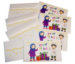 Eid Holiday Gift Money Envelopes Children Celebrate Design