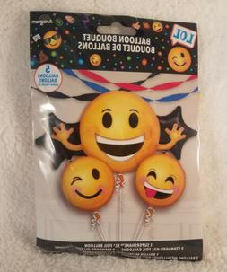 Emoji Balloon Bouquet Anagram Birthday Party Decorations