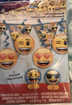 Emoji Emoticon Child's Birthday Party Tableware Decorations