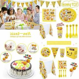 Emoji Party Supplies 107 PC Birthday Decorations Emojis Pape