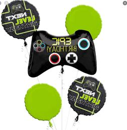 Epic Gamer 5pc Bouquet Birthday Party Foil Balloons Decorati