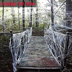 Moon Boat Fake Spider Web Cobweb Halloween Party Decorations