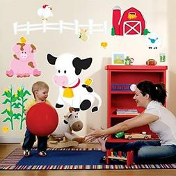BirthdayExpress Farm Animal Room Decor - Giant Wall Decals