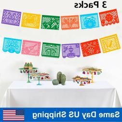 Fiesta Party Banner Large Plastic Mexican Papel Picado Banne