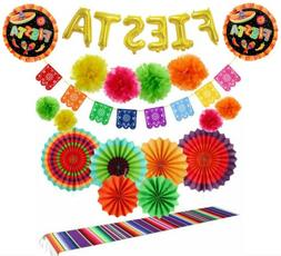 fiesta serape table runner party pack bundle