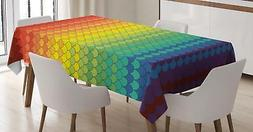 Fiesta Tablecloth by Ambesonne 3 Sizes Rectangular Table Cov
