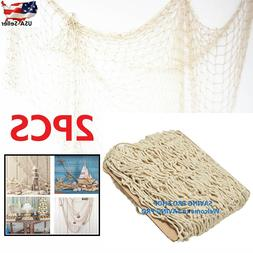 Fish Net Decor Nautical Seaside Beach Theme Sea Ocean Home W