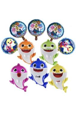 Shark Foil Cute 10pcs Family Balloons Kids Birthday Party De