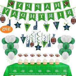 Football Theme SupperBowl Birthday Party Decorations 78pcs D