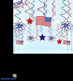 Fourth of July Accessories Moon Boat 36 Ct Patriotic Decorat