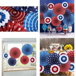 Moon Boat Fourth Of July Patriotic Decorations - Red White B