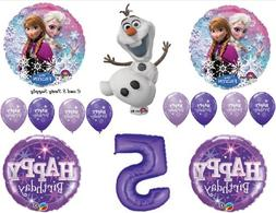 Frozen Olaf Purple 7th Disney Movie BIRTHDAY PARTY Balloons