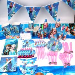 Frozen Theme Birthday Party Elsa Anna Supplies Favor Tablewa