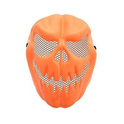 Botrong Funny Pumpkin Latex Mask Halloween Party Cosplay Fac
