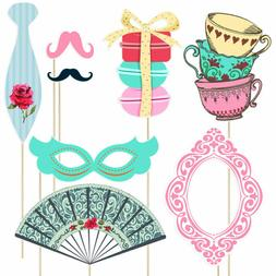 Tinksky Funny Tea Party Photo Booth Props Party Decoration 3