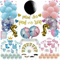 Gender Reveal Party Supplies-120-Pack Boy Or Girl Baby Showe