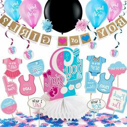 Gender Reveal Party Supplies & Baby Shower Decorating Kit By