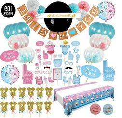 Gender Reveal Party Supplies Kit - Baby Shower Boy or Girl D