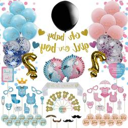 Gender Reveal Party Supplies Pack, Baby Shower Boy or Girl R