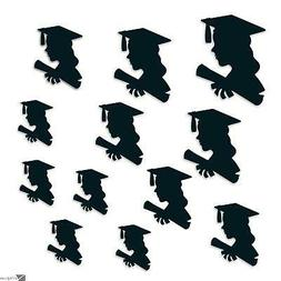 Beistle Girl Graduation Party Decoration Silhouettes 12pc 6""
