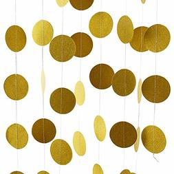 Threemart Glitter Party Decorations Garland,Gold White Pink