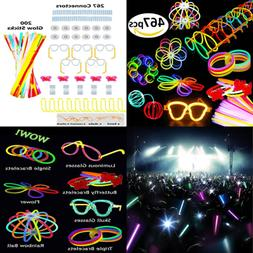 467 Pcs Glow In The Dark Glowsticks Bracelets Necklaces Glas