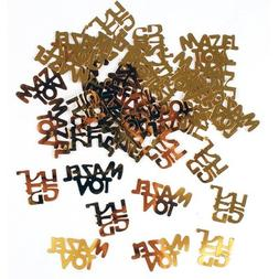 Gold Mazel Tov in Hebrew & English Confetti, Jewish Decorati