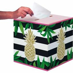 Gold Pineapple Bridal Shower Wedding Card Collection Box Par