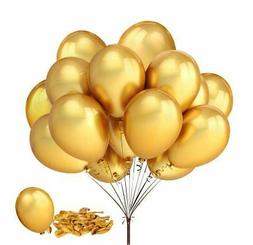 """Fecedy 100pcs/pack 12"""" Gold Shiny Balloons for party Decorat"""