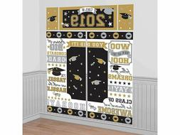 Graduation 2019 Scene Setter Gold Silver Wall Backdrop Party