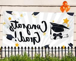 "Graduation Party Banner – Extra Large 71"" x 40"" - 2018"