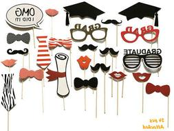 Graduation Party Photo Booth Props, Grad Decorations Attache