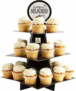 GRADUATION TREAT STAND Party Decorations Gold Silver Black G