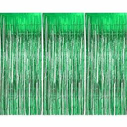 Sumind GrownUp Toys 3 Pack Metallic Tinsel Curtains, Foil Fr