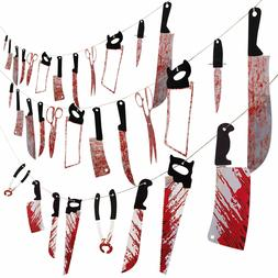 Halloween Moon Boat 3 Set Bloody Weapons Garland Banner Zomb