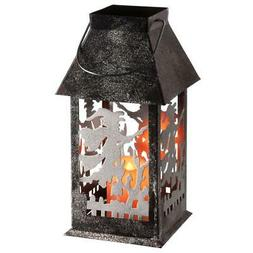 Halloween Decor Witch Lantern with LED Lights 11.6 in. All M