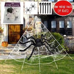Halloween Decorations Giant Large Huge Spider/Web Props Outd