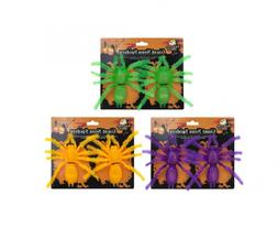 HALLOWEEN NEON SPIDERS 2Pcs IN A PACK UK SELLER Same day Dis