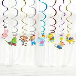 Hanging Swirl Ceiling Pendant Kids Birthday Party Supplies S