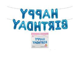 Happy Birthday Balloons Banner Balloon Bunting Party Decorat