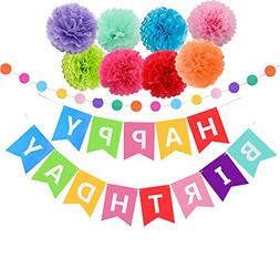happy birthday decorations banner