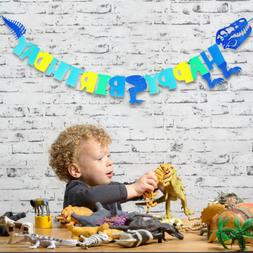 Happy Birthday Dinosaur Banner Garland Party Supply and Deco
