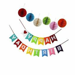 Happy Birthday Party Supplies Decoration Accessories Kit Bab